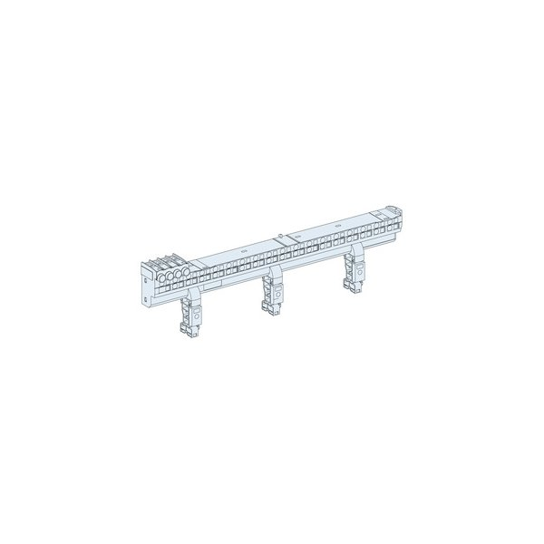 SCHNEIDER 04000   Verteilerblock Multiclip 80A 24 TE 36Anschlüsse für L1, L2, L3 und N-Leiter