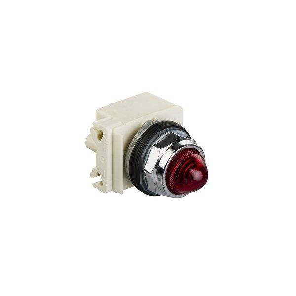 SCHNEIDER 9001KP7LRR9 | 30mm Pilot Light, 220-240v, red LED