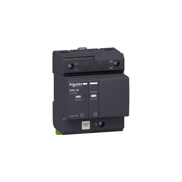 SCHNEIDER 16330 | Kombiableiter PRD1 25R 1P+N TYP1+2, Uc 350V