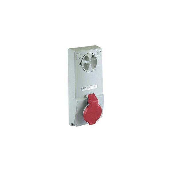 SCHNEIDER 82034   Anbausteckdose verriegelt, 16A, 2p+E, 380-415 V AC, IP44