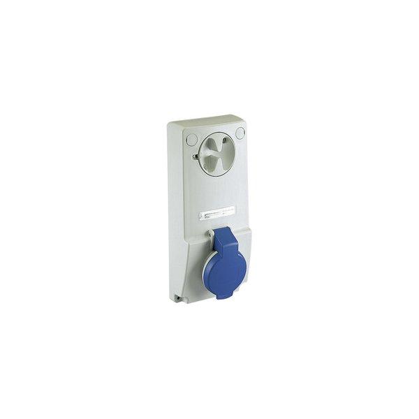 SCHNEIDER 82043   Anbausteckdose verriegelt, 32A, 3p+E, 200-250 V AC, IP44