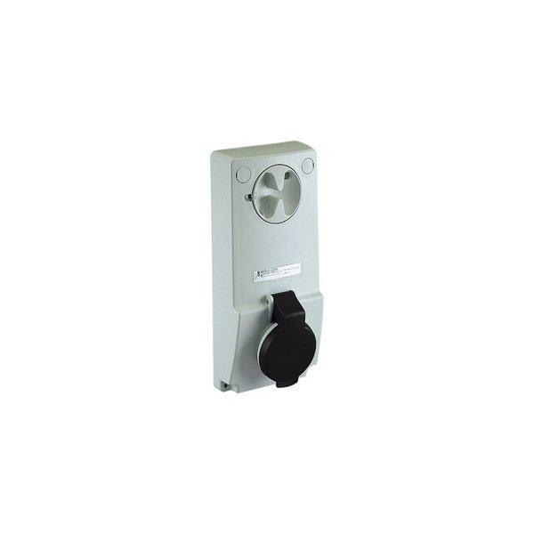 SCHNEIDER 82049   Anbausteckdose verriegelt, 32A, 3p+N+E, 480-500 V AC, IP44