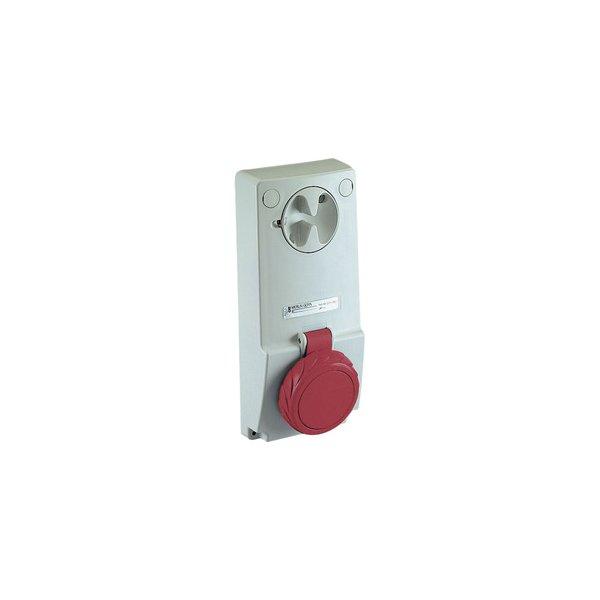 SCHNEIDER 82084   Anbausteckdose verriegelt, 16A, 2p+E, 380-415 V AC, IP65