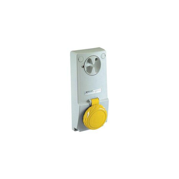 SCHNEIDER 82089   Anbausteckdose verriegelt, 32A, 2p+E, 100-130 V AC, IP65