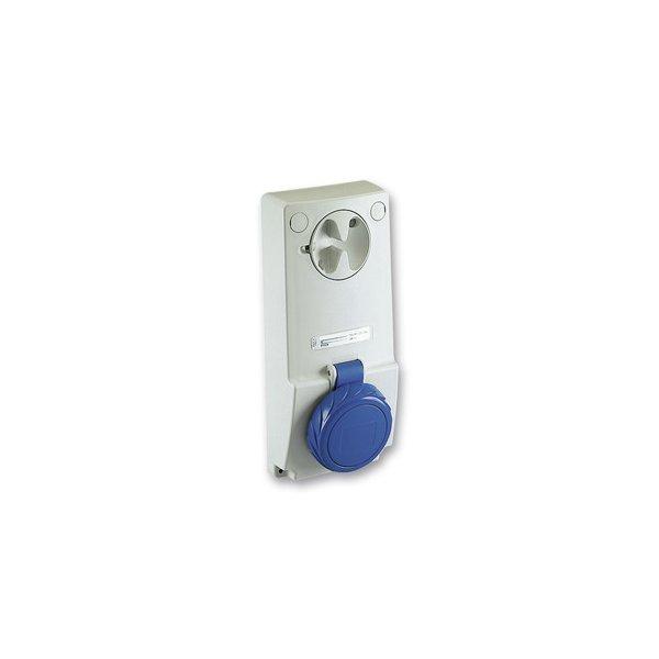 SCHNEIDER 82093 | Anbausteckdose verriegelt, 32A, 3p+E, 200-250 V AC, IP65