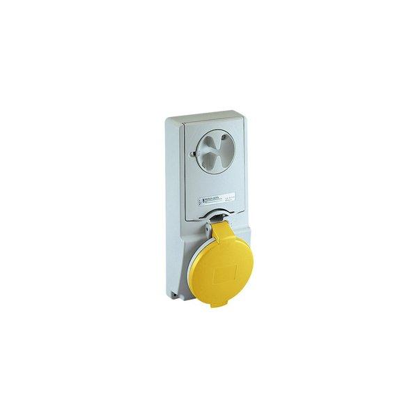 SCHNEIDER 82128 | Anbausteckdose verriegelt, 16A, 2p+E, 100-130 V AC, IP44