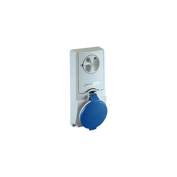 SCHNEIDER 82133 | Anbausteckdose verriegelt, 16A, 3p+N+E, 200-250 V AC, IP44