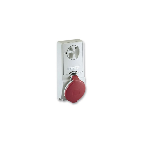 SCHNEIDER 82134 | Anbausteckdose verriegelt, 16A, 2p+E, 380-415 V AC, IP44