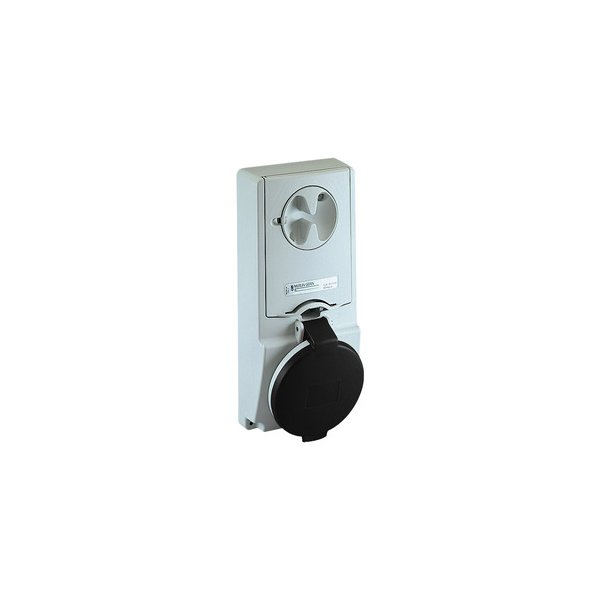 SCHNEIDER 82149   Anbausteckdose verriegelt, 32A, 3p+N+E, 480-500 V AC, IP44