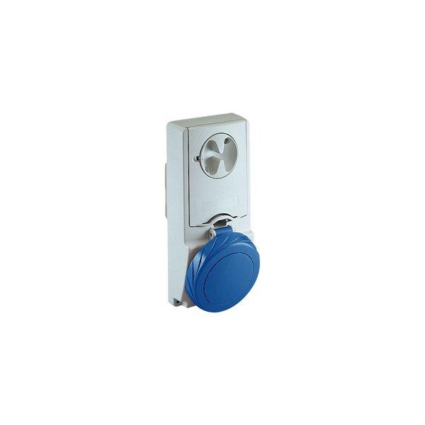 SCHNEIDER 82181 | Anbausteckdose verriegelt, 16A, 2p+E, 200-250 V AC, IP65