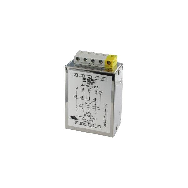 10512 - MEF Netzentstörfilter 3-phasig 1-stufig mit N