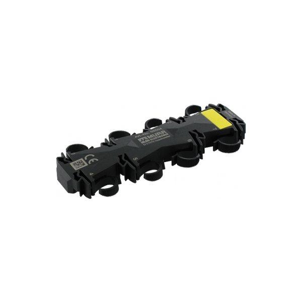 55554 - Kabelfixierung 8xM12 schwarz
